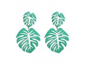 Zelené náušnice Palms