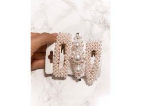 Set troch perlových sponiek