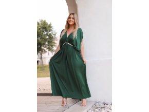 Dlhé voľné zelené šaty