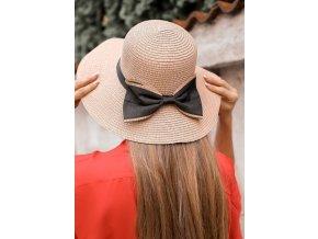 Elegantný dámsky klobúk s mašľou