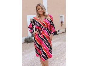 Farebné prúžkované šaty