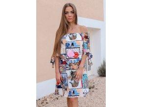 Farebné komixové šaty
