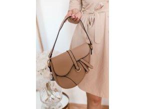 Štýlová béžovo-hnedá kabelka na rameno