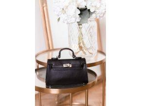 Trendy mini kabelka v čiernej