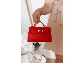 Trendy mini kabelka v červenej