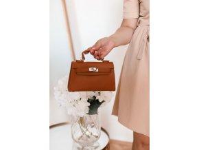 Trendy mini kabelka v hnedej