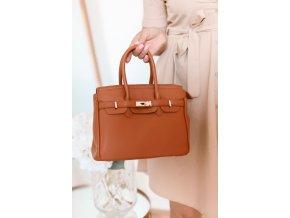 Elegantná hnedá kabelka