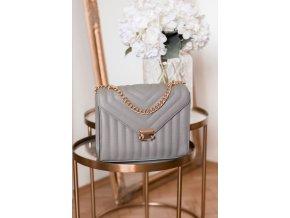 Svetlo-sivá dámska kabelka