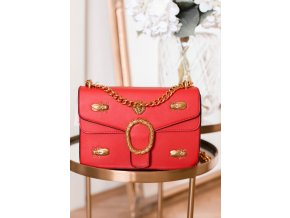 Trendy červeno-zlatá kabelka
