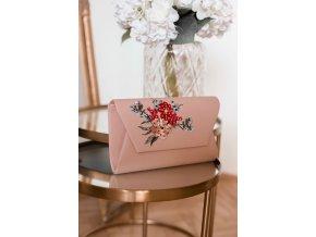 Listová kabelka v pudrovej farbe
