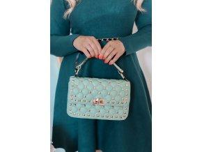 Mentolovo-zelená dámska kabelka