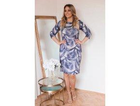 Fialovo-sivé kvetinové šaty