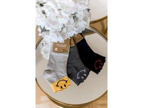 Set troch párov ponožiek SMILE