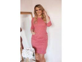 Staro-ružové šaty s vreckami