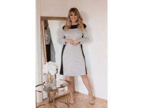 Svetlo-sivé ležérne šaty