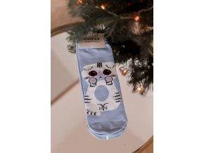 Dámske ponožky Kitty - modrá