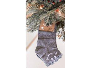 Dámske sivé ponožky s Smile