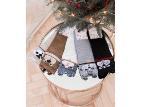 Set piatich párov ponožiek so zvieratkami