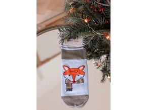 Dámske ponožky Fox - modro-sivá