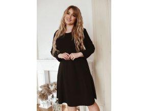 Čierne šaty áčkového strihu