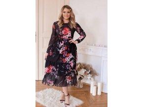 Kvetinové šaty s volánmi na sukni
