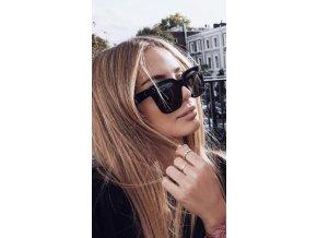 Čierne slnečné okuliare Leni