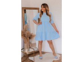 Svetlo-modré voľné šaty