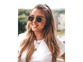 Hnedé slnečné okuliare Mila