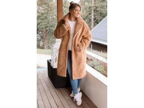 Hnedý teddy kabát