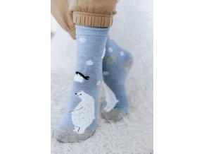 Milé modro-sivé ponožky Ľadový medveď