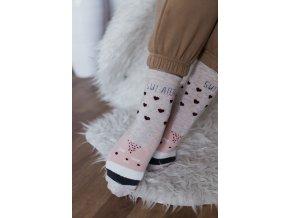 Krémové ponožky so zvieratkom