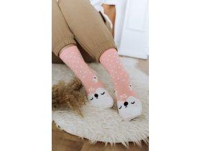 Roztomilé ponožky Ružový sobík
