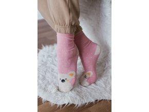 Ružové ponožky s medvedíkom Koala