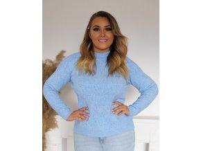 Dámsky svetlo-modrý sveter