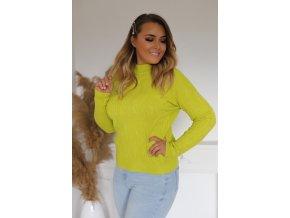 Dámsky sveter v limetkovej farbe