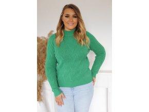 Dámsky sveter v zelenej farbe