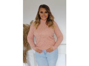 Dámsky sveter v ružovej farbe