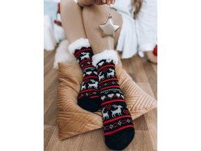 Teplé ponožky s nórskym vzorom