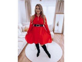 Košeľové šaty v červenej farbe