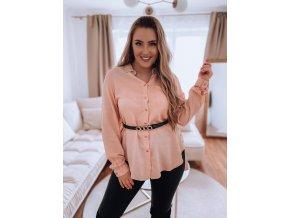 Košeľa v broskyňovo-ružovej farbe