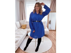 Košeľové šaty v kráľovskej modrej