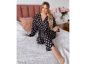 Dámské dlhé pyžamo so srdiečkami