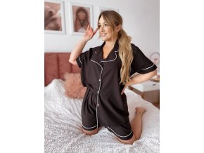 Dámské kraťasové pyžamo v čiernej