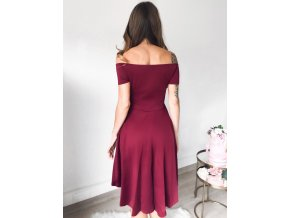 Burgundy All The Rage Skater Dress LC61346 3 4
