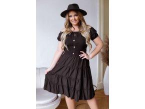 Šaty s odhalenými ramenami v čiernej