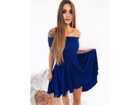 Asymetrické koktejlové šaty v modrej