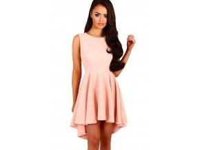 Pink Pleated Hi low Hem Sleeveless Skater Dress LC22989 10 1