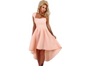 Pink Stripe Dip Hem Midi Swing Dress LC61470 10 1