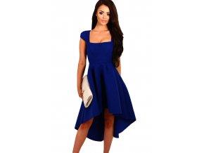 Blue Stripe Dip Hem Midi Swing Dress LC61470 5 1