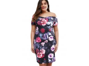 Plus Size Sexy Off Shoulder Floral Bardot Dress LC220020 22 1